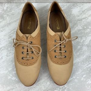 Sperry Top Sider Oxfords wingtip size 10